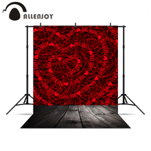Allenjoy photo backdrops Love hearts wood floor wedding backgrounds for photo studio christmas photo backdrop for a photo shoot(China)