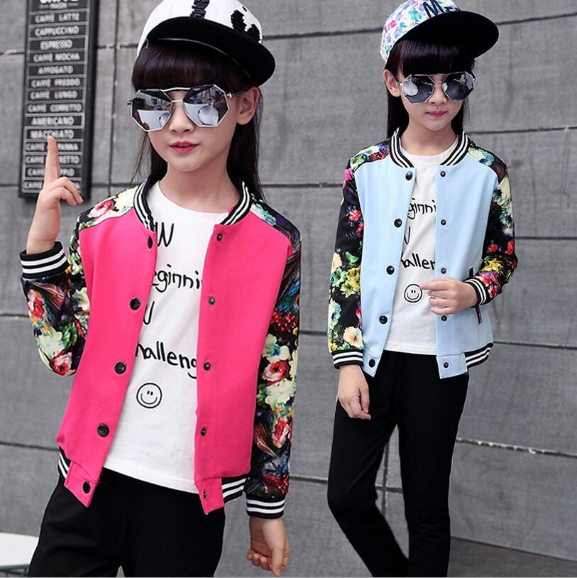Spring And Autumn Ensemble Fille Cotton Kids Two - piece Children s Clothing Print Floral Girls Sports Suit Single Breasted<br><br>Aliexpress