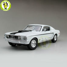 1/18 1968 Ford Mustang GT Cobra Jet Maisto Model diecast car model for gifts collection hobby White Color