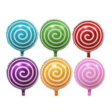 18-Inch Candy Lollipop Foil Balloons Lollipop Mylar Balloon Lovely Kids Toy For Birthday Party Decoration(China)