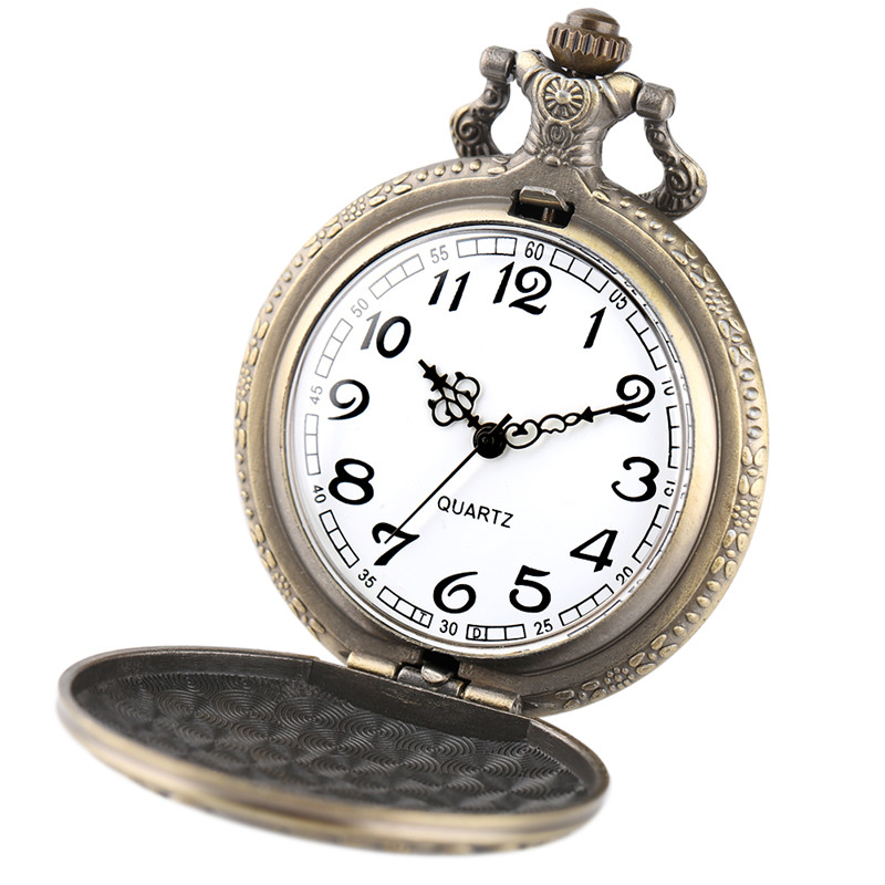 Cool Wolf Pocket Watch Pendant Mens Boys Children Necklace Vintage Quartz Analog Clock Wolves Tribe Fob Clock Gifts Collection (5)