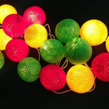 35 Balls Set Happy Warm Colorful Cotton Balls Unit String Line Home & Garden Christmas Weddings & Events Family Decor