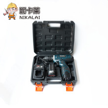 NIKALAI 16.8V Rechargeable lithium battery*2 hand electric drill hole 25V electric screwdriver Carrying suitcase power tool set