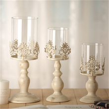 3 Size Elegant Candle Holder Cube Stand Candle Candlestick Metal Base Craft Votice large Glass Candles Wedding Candle Holders