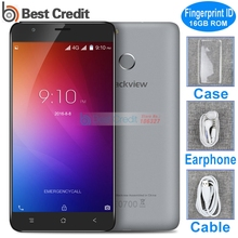100% Original Blackview E7 E7S Mobile Phone 5.5inch 3G WCDMA Android 6.0 Quad Core 16G ROM 8MP Android Smartphone Fingerprint ID