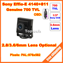 960H Effio-E 700TVL CCD 3.6mm lens OSD Menu Mini cctv camera