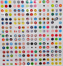 Brand New Hot 330 pieces/pack Rubber Cartoon Home Button Sticker Fit Fot iphone 3s 4s 5 5s 5c 6 6s plus Home Keyboard For ipad(China)