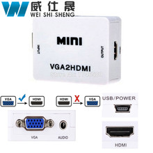 Mini VGA to HDMI Converter 1080P VGA2HDMI Adapter For PC Laptop DVD to HDTV Projector with HDMI2VGA Converter