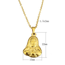Wholesale pendant & necklace for women fashion elegant jewelry 2017 stainless steel jewelry necklace character chain for woman