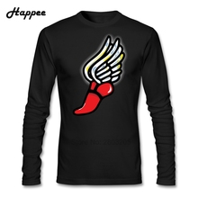 Men's O Neck Athlete Flash Angel T Shirts Male Customized T-shirts Cheap Wholesale Long Sleeve Dad Tshirt Tops