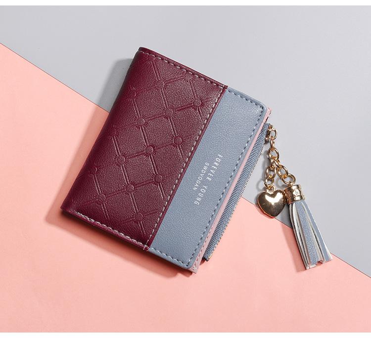 PU Leather,wallet female,wallet female women zipper,Fashion,Casual,Vintage,Black,Red,Brown,Blue,Pink wallet female leather (10)