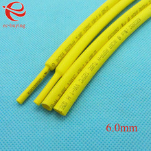 Heat Shrink Tube Yellow Tube Heat-Shrink Tubing Diameter 6mm Thermo Jacket Wire Wrap Insulation Materials Element 1meter /lot