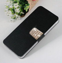 Newest 5 Colors Luxury Elegant PU Leather Mobile Phone Cases Cover   for Nokia Lumia 510 Free Shipping