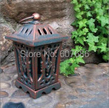 Vintage Rustic Iron Metal Hang Garden Lantern Candle Holder Home Decorations Hanging Tea Light Holder Outdoor Yard Free Shipping