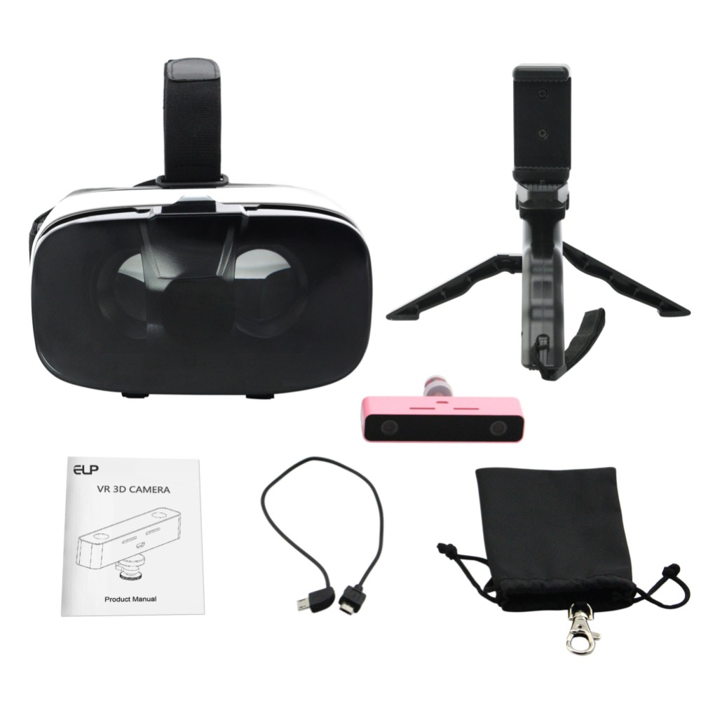 Virtual Reality 3D Video Camera and and VR Headset Kit to save the best memories of your life in virtual reality(China (Mainland))