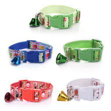Newest  Design High Quality Christmas Pet Dog Collar Nylon Gift Snowman Hat Miludeer Candy Santa Style with Bell Pet Supplies