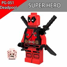 Deadpool Figure Single Sale XMen Building Blocks DC Super Heros DIY Brick Action Model Gifts Toys For Children PG051