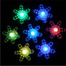 Led Wedding Dress 10pcs/lot The Colorful Snowflake Decoration Nightlight Led Color Glow Change Snow Xmas Christmas Light Lamp