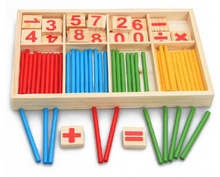 Baby Toys Counting Sticks Education Wooden Toys Building Intelligence Blocks Montessori Mathematical Wooden Box Chil Gift