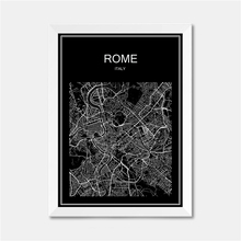 Rome Italy CITY World Map Poster Abstract Vintage Paper Print Picture Bar Cafe Pub Living Room Bedroom House Decor 42x30cm