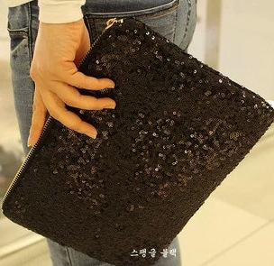 Lady Bag Evening-Clutch-Bag Make-Up-Pouch Mermaid-Glitter Fashion Handbag Sequins Reversible title=