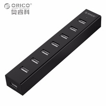 ORICO H7013-U2 7 Ports USB 2.0 HUB for MAC Notebook Perfectly with 30CM Data Cable - Black/White/Gray/Blue(China)