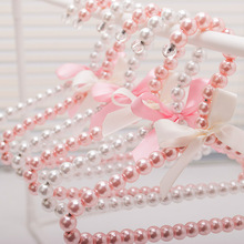 Best selling pearl clothers hangers for pets 20cm fashion beads hanger for shop & home free shipping(China)