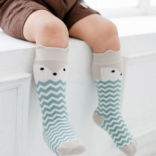 Baby Boy Girl fox Stocking Newborn Toddler knee high socks cotton Cute Cartoon Animal Cat Stockings For newborns infant(China)
