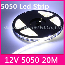 High bright 20M LED strip 5050 12V flexible light 60 leds/m,Warm White,White,Blue,Green,Red,Yellow,RGB color,5m/lot