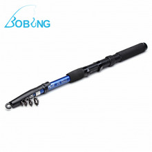 2.1M Carbon Portable 6-Section Telescopic Fishing Rod Pole Spinning Fish Hand Sea Rod Fishing Line Lures Bait Hook tackle