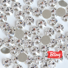 Buy Nail Art Rhinestones Clear Flat back Glass Non Hot fix Rhinestone Size Crystal Bling Nails Glitter Rhinestone B0035 for $1.23 in AliExpress store