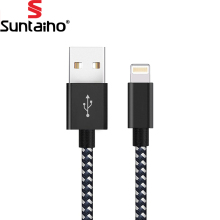 USB Cable for iPhone 7 Suntaiho 2.1A Nylon 8 Pin USB Cable Fast Charging Data Cable for iPhone 5s 6s Plus iPad Air USB Cables