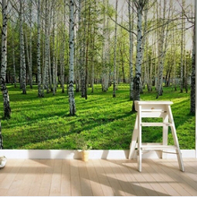 Fresh Birch forest New Large custom wallpaper mural TV background wallpaper HD fashion wall paper living room bed room wallpaper