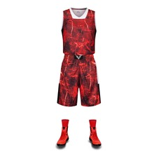Authentic 17/18 New style lightning basketball uniforms men breathable basketball training suit jersey & shorts DIY custom(China)