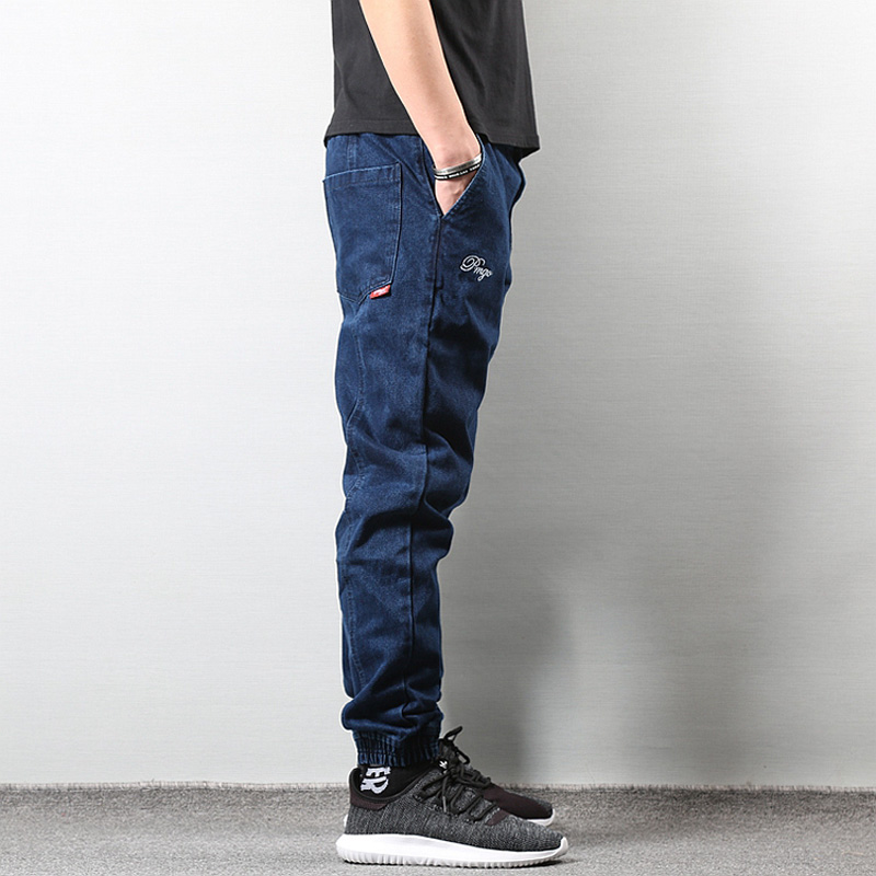 Japanese Style Fashion Men `s Jogger Jeans Black Blue Color Streetwear Punk  Pants Hip Hop Jeans Men Slim Jeans Cargo Pants Homme. 19. 20. 21. 22. 23. 24 5919c1a57
