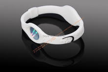 Power Energy Hologram color white Bracelets Wristbands Balance Ion Magnetic Therapy Fashion Silicone Bands