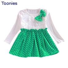 Girl Dress Princess 2017 Spring Dot Dresses For Girls Kids Children School Clothes Toddler Girls Dresses Baby Roupas Clothing