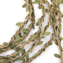 1 Roll 10m Artificial Vine Fake Foliage Leaf Garland Plant for DIY Wedding Home Garden Decor Photography props P25(China)