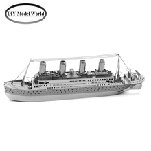 TITANIC boat model kit laser cutting 3D puzzle DIY boat metal jigsaw free shipping best gift for kids educational toys