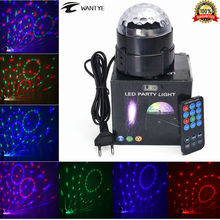 Mini RGB LED Crystal Magic Ball Stage Effect Lighting Lamp Party Disco Club DJ Bar Light Show + Remote Control(China)