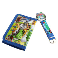 Clock 2 In 1 Cartoon Children Watches With Purse Thomas Friends Quartz Watch Lovely Purse For Kids