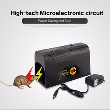 Black Electronic Pest Rat Mosquito Mouse Rodent Killer Electric Trap Zapper Pest Control Dug(China)