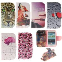 Flip Case for Samsung Galaxy S 3 iii mini S3 Siii i8190 GT-i8190 Value Edition VE i8200 GT-i8200 GT-i8200L Phone Leather Cover(China)