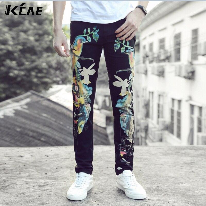 New Mens Black Jeans Slim Mens Denim Trousers Represent Pants Male Designer Jeans Men High Quality Одежда и ак�е��уары<br><br><br>Aliexpress