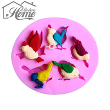 Different Kinds Of Cute Bird Shape Silicone Mold , Fondant Candle Molds, Chocolate Moulds, Silicone Molds Decorating Tools DIY