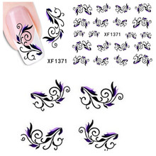 1sheets New Fashion Decals Water Transfer Nail Art Stickers Simple Vine Stick Tips Wraps Decorations Manicure Tools LAXF1371(China)