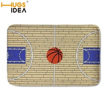 HUGSIDEA Custom NBA Basketball Carpet Front Door Mat Doormat Bathroom Mat Soft Water Absorption Basketball Court Rugs Floor Mats