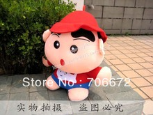 Japan animine Crayon Shin Chan with red hat plush toy 35CM wt108