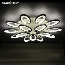 Fashion flower modern LED chandelier Living room RC dimmable lights new house decoration lighting Acrylic chandelier lamp