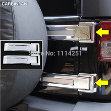 ABS Exterior Accessories Tailgate Door Hinge Covers For Jeep Wrangler JK 2007 2008 2009 2010 2011 2012 2013 2014 2015(China)